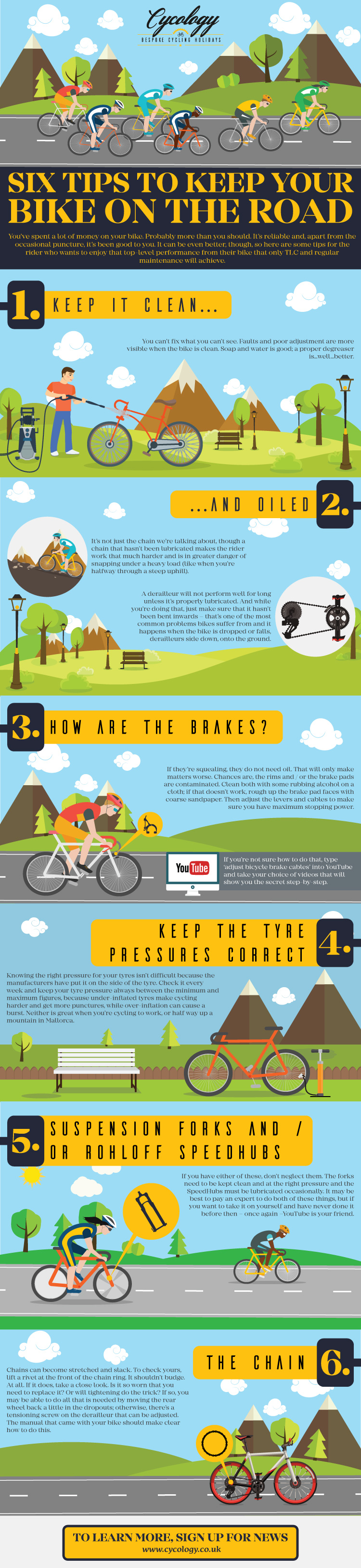 Bike Maintenance Infographic